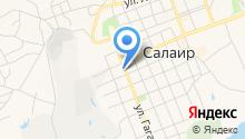 Продовольственный магазин на ул. Гагарина на карте