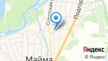 Отдел Военного комиссариата Республики Алтай по Майминскому и Чойскому районам на карте