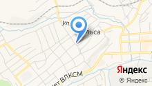 Продовольственный магазин на Базарной на карте