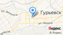 Районная централизованная библиотечная система Гурьевского района на карте