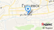 Межрайонный отдел судебных приставов по г. Гурьевску, г. Салаиру и Гурьевскому району на карте