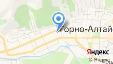 Горный Алтай на карте