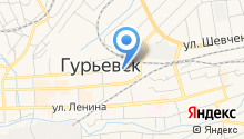 Мировые судьи г. Гурьевска и Гурьевского района на карте