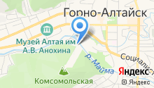 Комсомольская на карте