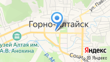 Мировые судьи г. Горно-Алтайска на карте