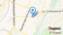 Автокомплекс на Федоровского на карте