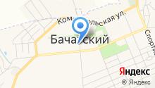 Отделение полиции Бачатское на карте