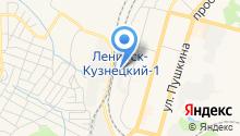 Тяговая подстанция по г. Ленинск-Кузнецкому на карте