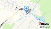 Церковь апостола Андрея Первозванного на карте