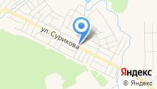 Хозяйственный магазин на ул. Сурикова на карте