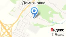 Демьяновская средняя общеобразовательная школа на карте