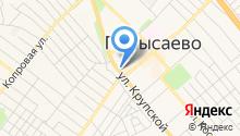 Кафе на ул. Крупской на карте