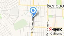 Шиномонтажная мастерская на Пролетарской на карте