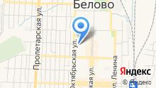 Межрайонный отдел Управления Федеральной службы РФ по контролю за оборотом наркотиков по Кемеровской области в г. Белово на карте