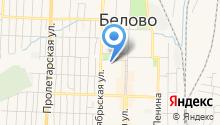 Управление ФСБ РФ по Кемеровской области в г. Белово на карте