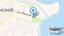 Ижица, ЗАО на карте
