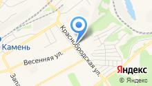 Автостоянка на Краснобродской на карте