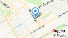 На Томской на карте