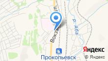 Линейное отделение полиции на ст. Прокопьевск на карте