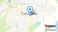 Сосновское на карте