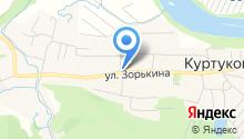 Продуктовый магазин на ул. Зорькина на карте