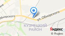Автомойка на ул. Обнорского на карте
