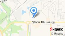 Автомойка на проспекте Шахтёров на карте