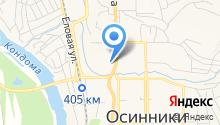 Центр гигиены и эпидемиологии в Кемеровской области в г. Осинники и г. Калтане на карте
