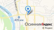 Управление по защите населения и территории Осинниковского городского округа на карте