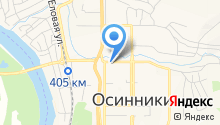 Центр занятости населения г. Осинники на карте