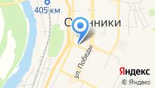 Управление городским хозяйством г. Осинники, МУП на карте