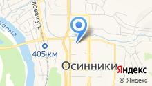 Лицензионно-разрешительной отдел МВД России по г. Осинники на карте