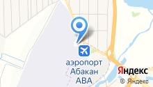 Абакан Эйр на карте