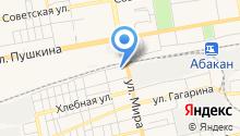 Автобаня на Элеваторной на карте