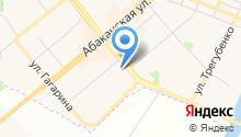 Ясень на карте