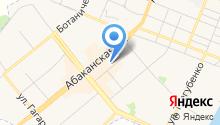 Минусинская кондитерская фабрика, ЗАО на карте