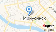 Минусинск на карте