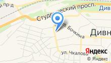 Автостоянка на ул. Чкалова на карте
