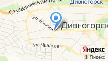 Пожарная часть г. Дивногорска на карте