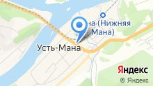 Компания по продаже пончиков на карте