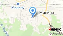 Мининская средняя общеобразовательная школа на карте