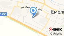 Мировые судьи Емельяновского района на карте