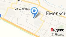 Емельяновский посад на карте