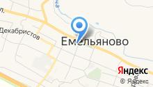 Землемер на карте