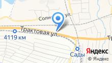 Автомойка на Трактовой на карте
