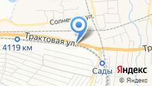 Автомойка на ул. Трактовая на карте