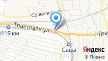 Продуктовый магазин на Трактовой на карте