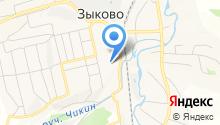 Зыковский детский сад на карте