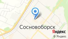 Сосновоборск.НЕД на карте