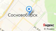 Сосновоборск на карте